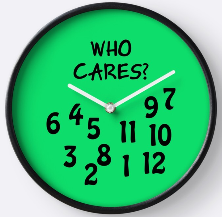 "Uhr ""WHO CARES"""