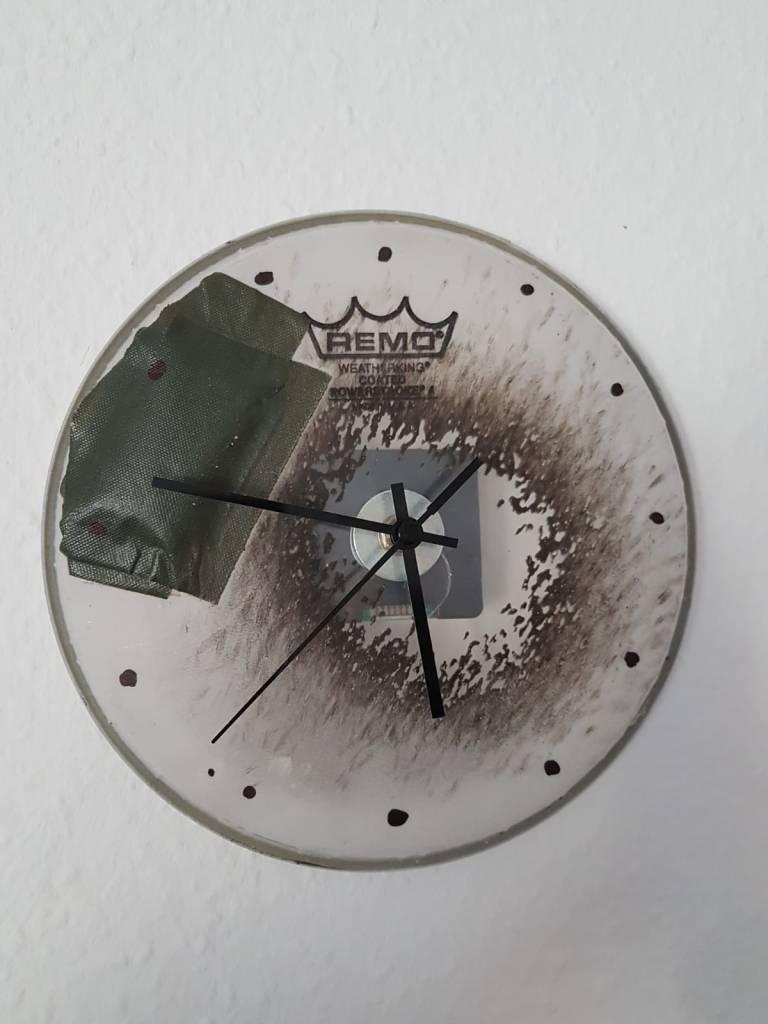 Schlagzeugfell Uhr für Probenraum Musiker, insbesondere Schlagzeuger (Drummer)
