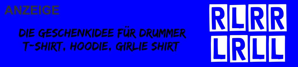 Die Geschenkidee für Drummer Schlagzeuger T-shirt Hoodie Girlie Shirt mit Paradiddle Kombination
