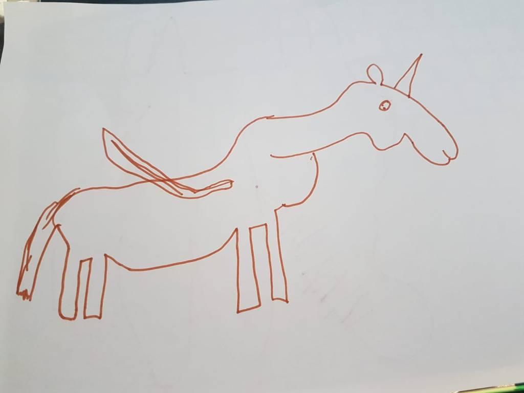 Ein Einhorn mit Flügeln von mir gezeichnet