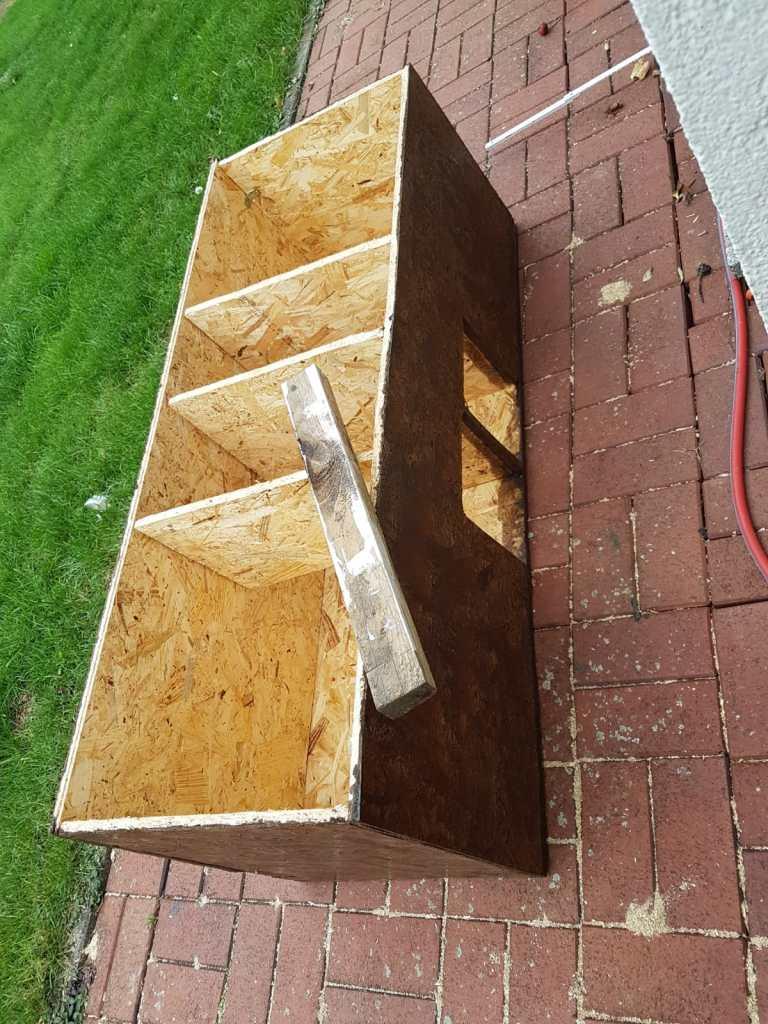selbstgebautes Katzenhaus nach Anleitung gebaut. DIY Blog Bad Salzuflen