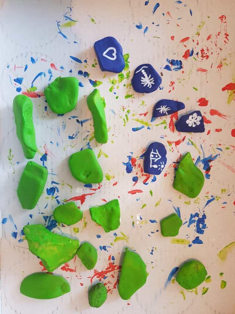 bemalte Steine DIY Projekt mit Kindern
