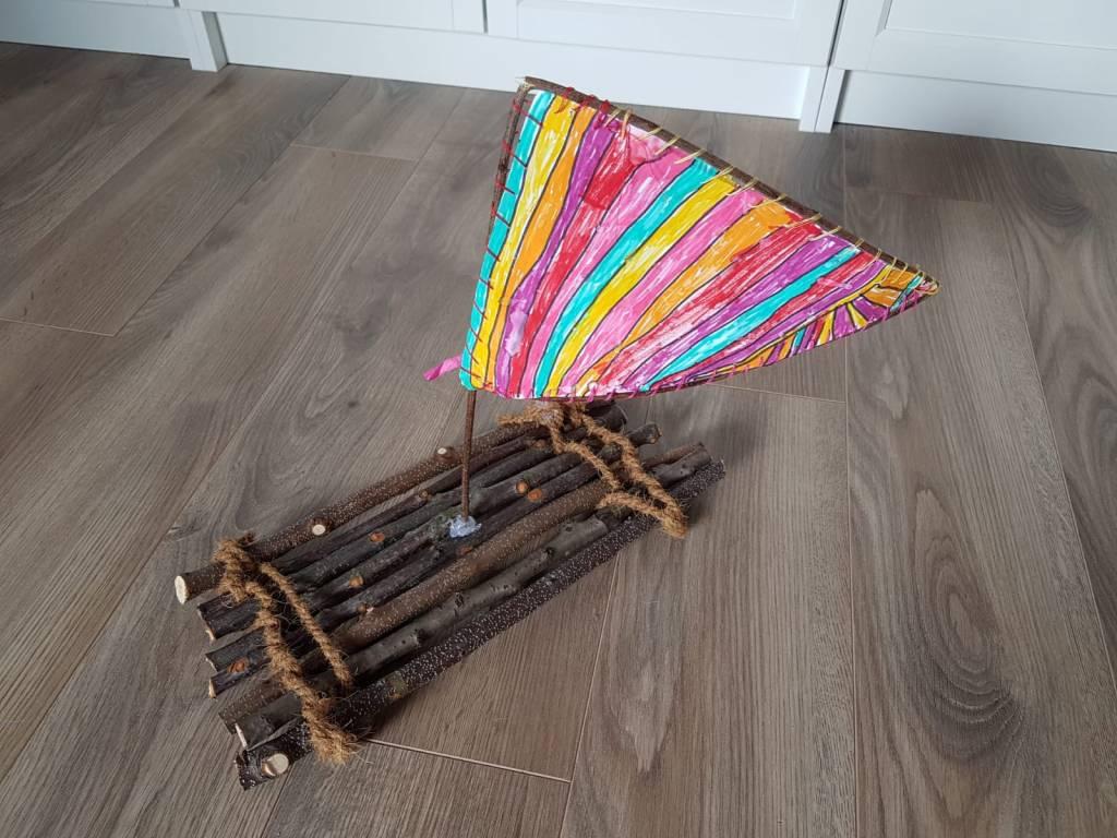 DIY Holz Ideen Floss aus Ästen bauen