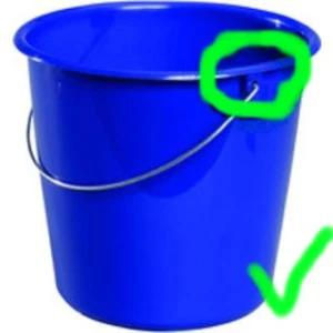 Der richtige Eimer für eine selbstgebaute Trommel