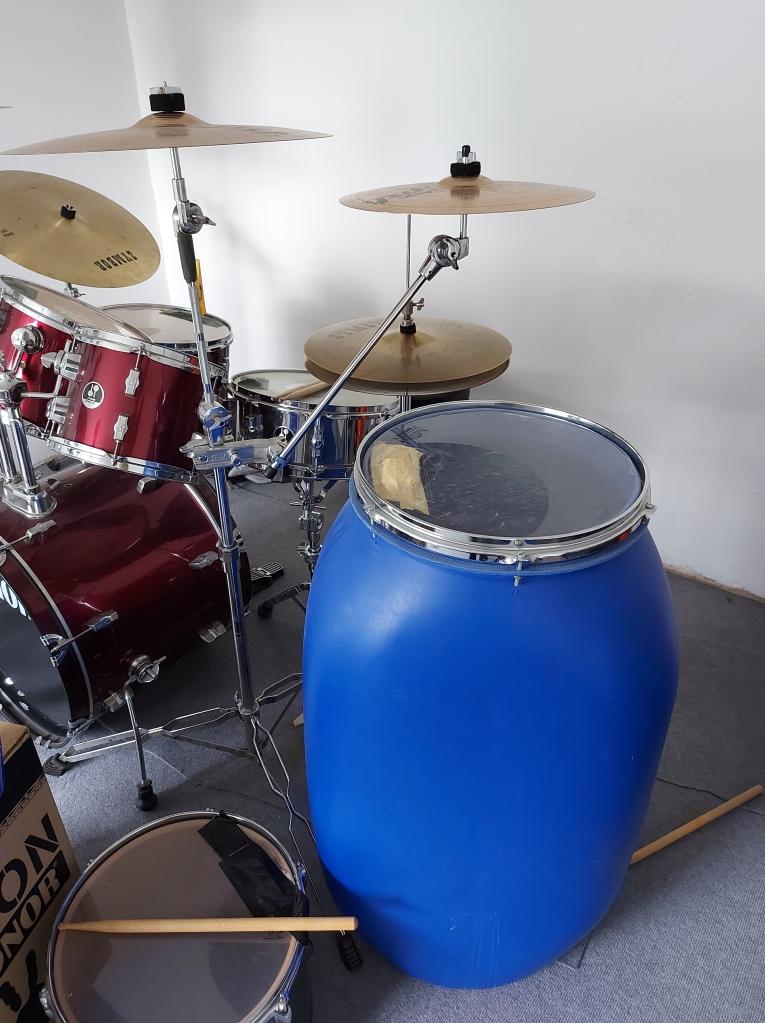 DIY Trommel Regentonne Musikinstrument