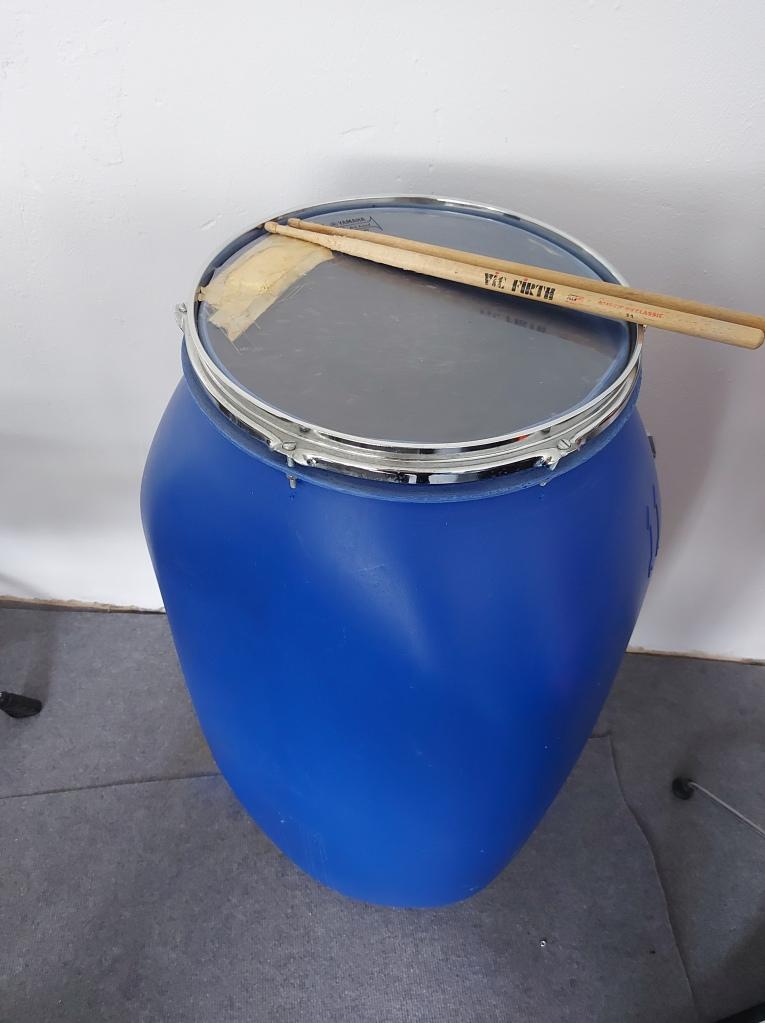Trommel Regentonne Musikinstrument DIY BLOG Kuhlenbieke