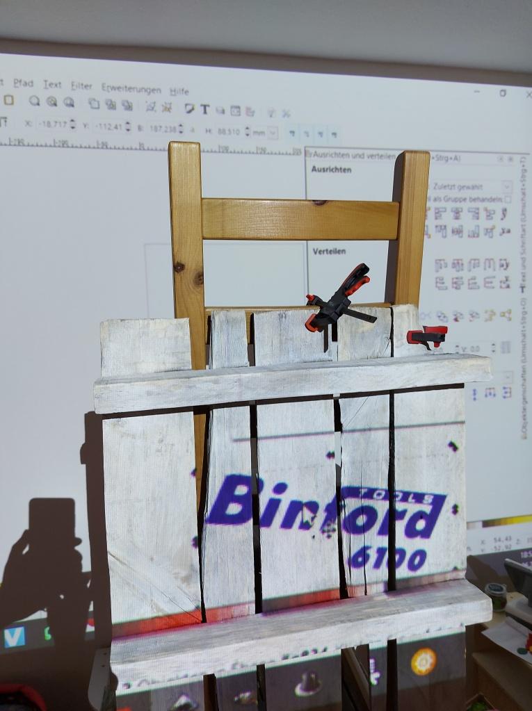 Binford 6100 Bild mit Beamer auf Holz übertragen