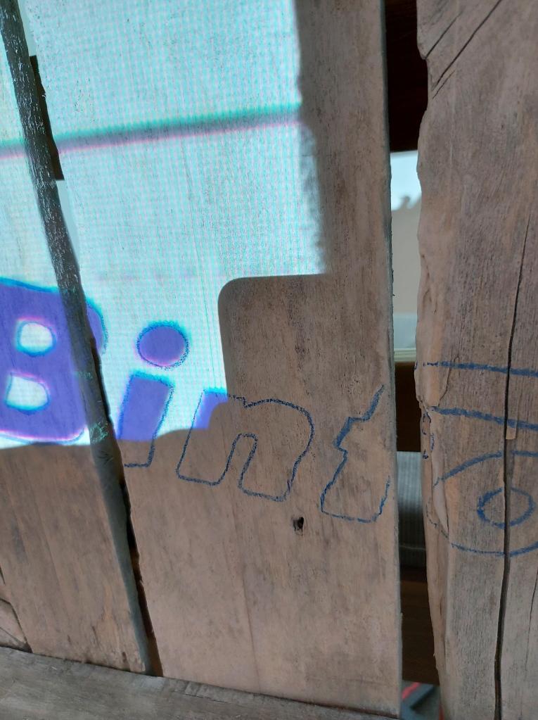 Binford 6100 Logo Bild auf Holz übertragen